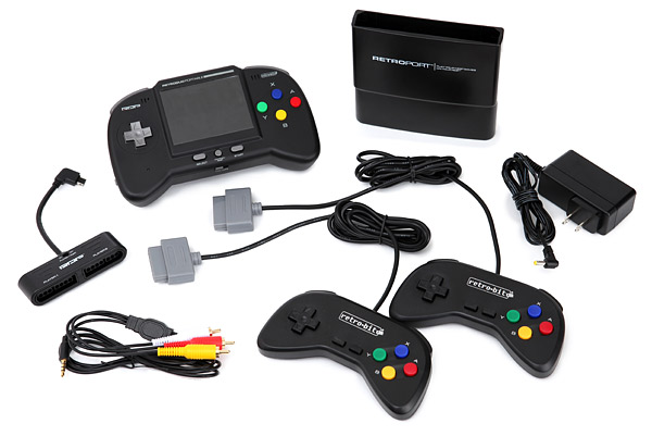 Retro Duo Portable Gaming System for Your Old Nintendo NES/ SNES Games