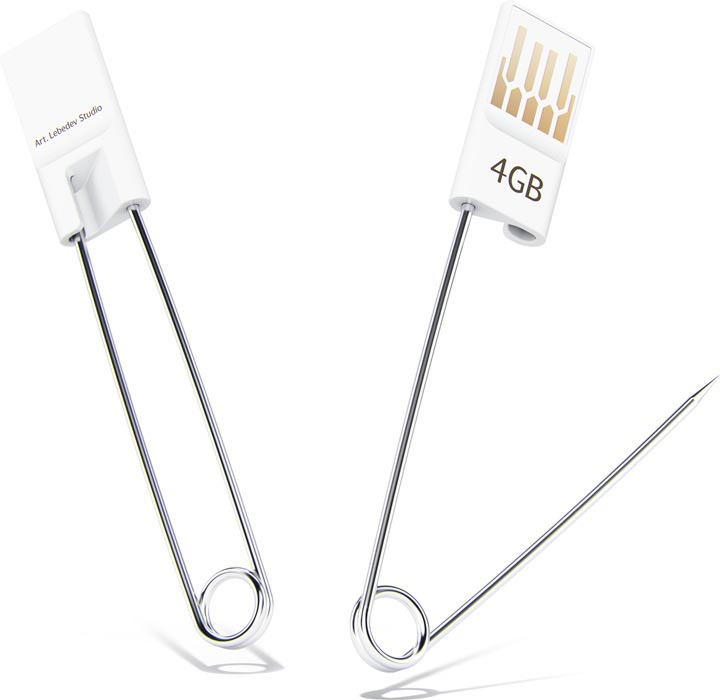 Safety Pin Styled USB Flash Drive