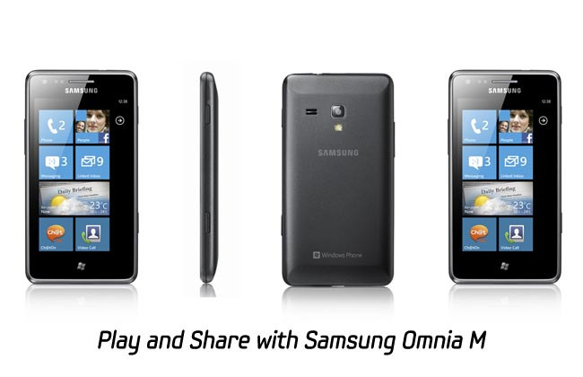 Samsung Omnia M Windows Phone Announced