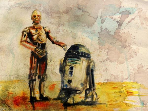 Star Wars Watercolor Paintings by Terry Cook