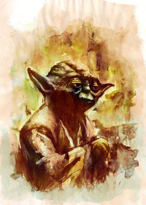 Star Wars Watercolor Paintings by Terry Cook | Gadgetsin