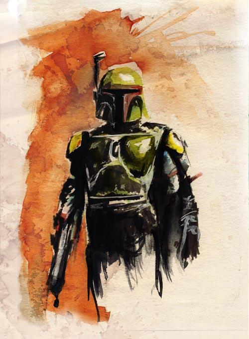 Star Wars Watercolor Paintings By Terry Cook Gadgetsin