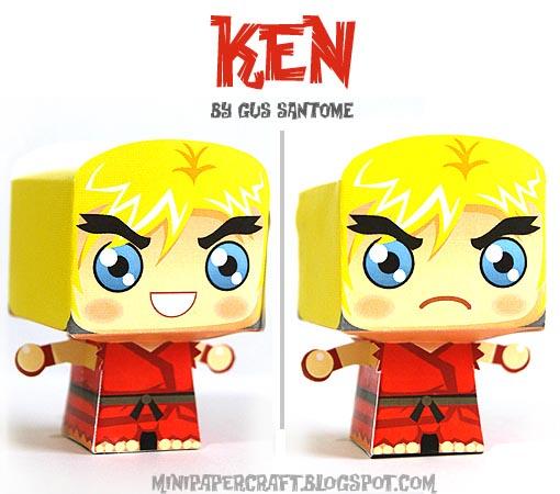 Street Fighter Mini Paper Crafts