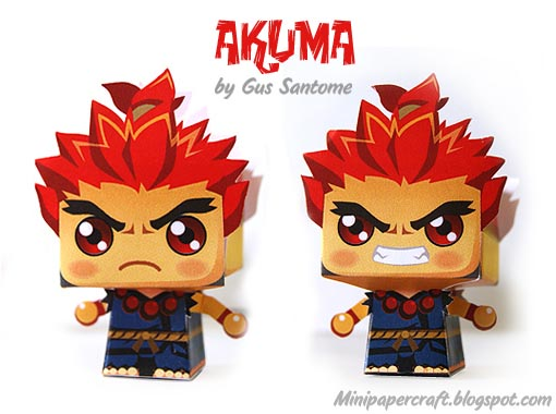 Street Fighter Mini Paper Crafts