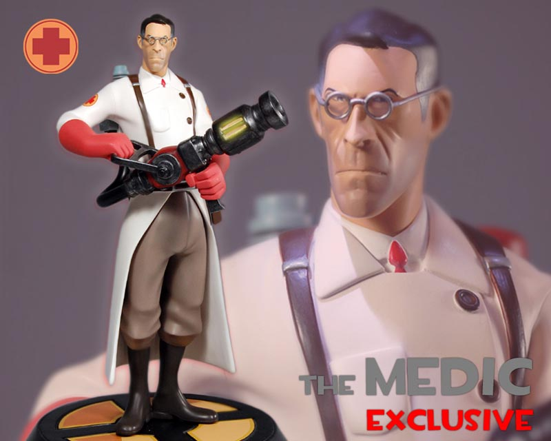 Team Fortress 2 The Medic Collectible Figure Gadgetsin