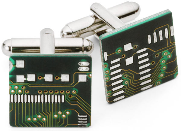 The Circuit Board Cufflinks