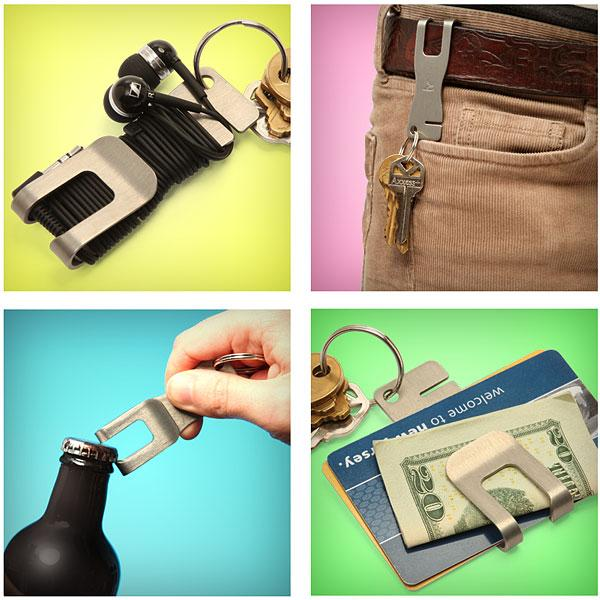 The Clip Multifunctional Belt Clip Bottle Opener
