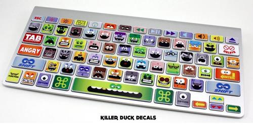 Little Monster MacBook Keyboard Skin Set