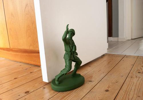 Green Army Man Doorstop