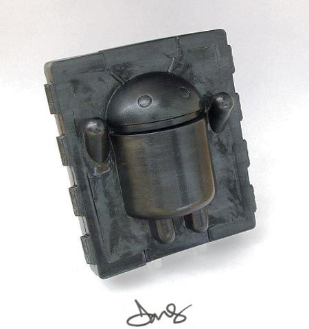 Android in Carbonite Vinyl Toy