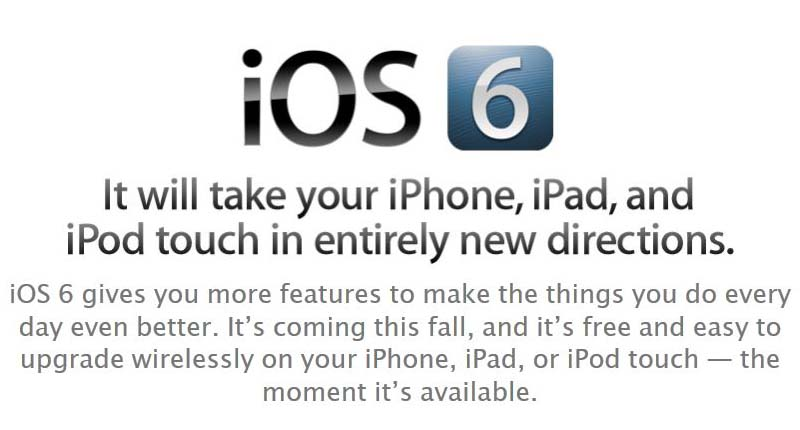 Apple iOS 6 Unveiled Coming This Fall