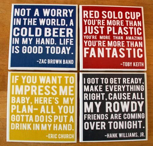 Customizable Quotes Coaster Set
