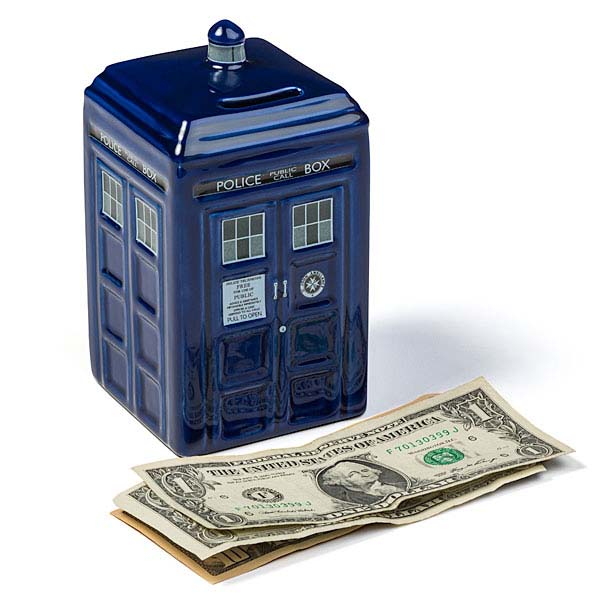 Doctor Who Ceramic TARDIS Money Bank