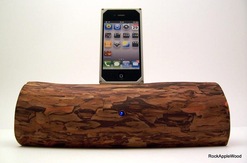 Handmade Wooden IPhone Dock Speaker