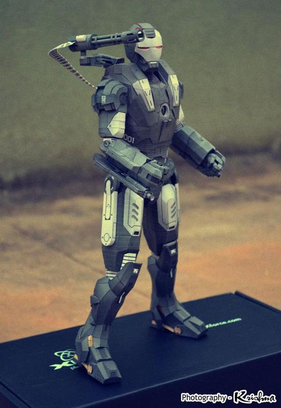 Iron Man War Machine Paper Craft