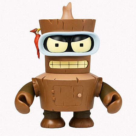 Kidrobot Futurama Wooden Bender Vinyl Figure