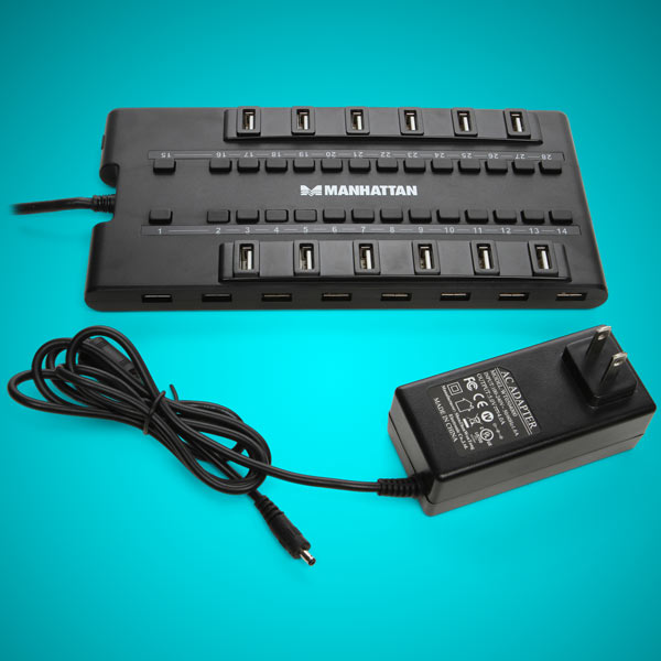 MondoHub 28 Port USB Hub