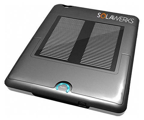 SolarPad iPad Case with Solar Powered Backup Battery and Speakers