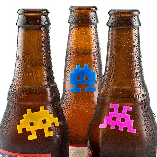 Space Invaders Silicone Drink Marker Set
