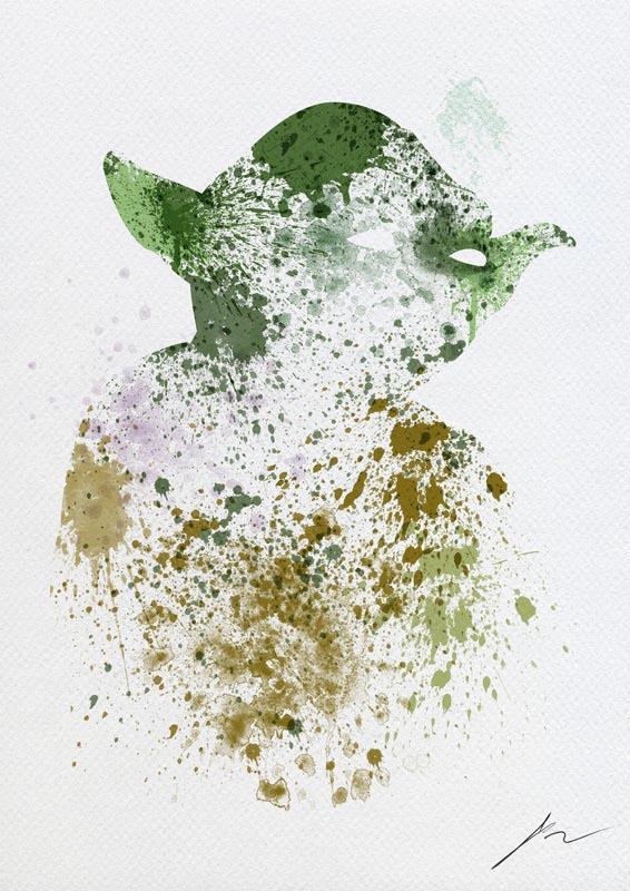 Star Wars Paint Splatter Posters | Gadgetsin