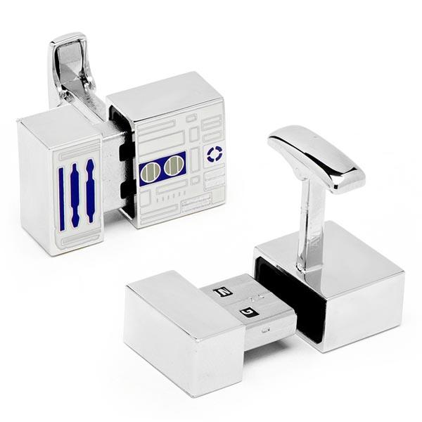 Star Wars R2D2 USB Flash Drive Cufflinks