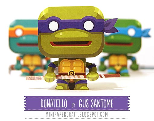TMNT Mini Paper Crafts