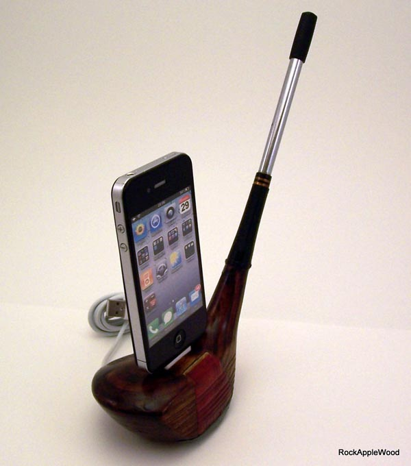 Vintage Golf Club iPhone Dock
