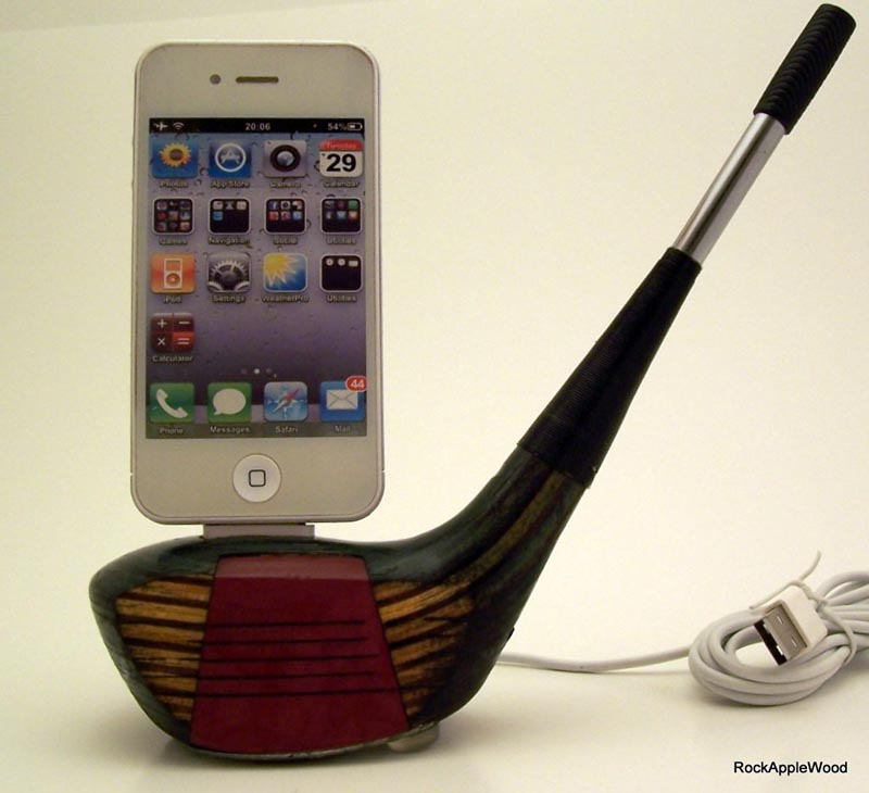 Vintage Golf Club Iphone Dock Gadgetsin