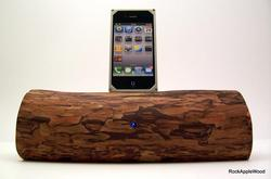 Handmade Wooden iPhone Dock Speaker