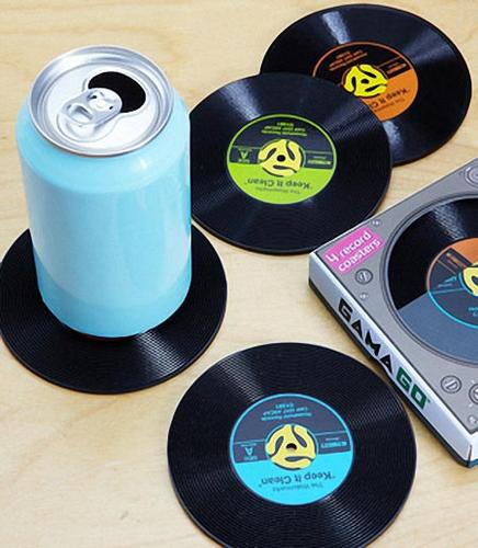 45 Record Drink Coaster Set Gadgetsin