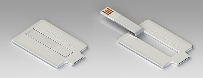 ChargeCard Credit Card Shaped Charging Cable for iOS Devices