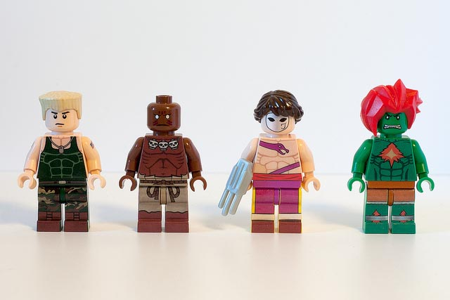 Custom Street Fighter 2 LEGO Minigures