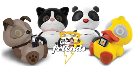 Electric Friends Animal Dock Speaker for iPhone and iPod