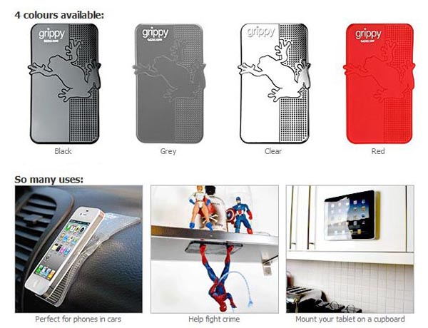 Grippy Pad Keeps Your Gadgets in Place