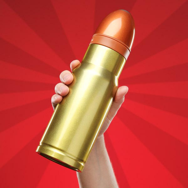 Hollow Point Bullet Shaped Travel Mug