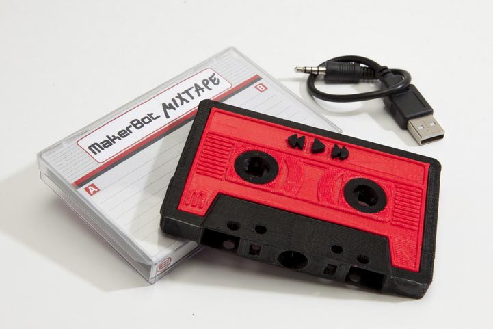 MakerBot Mixtape 3D Printed MP3 Player