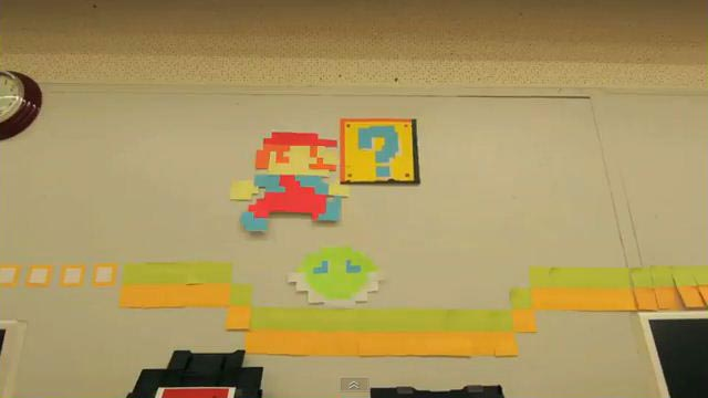 Super Mario Stop Motion Video Created with Post-It-Notes