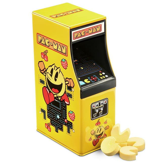Pac-Man Candies with Arcade Cabinet Tin