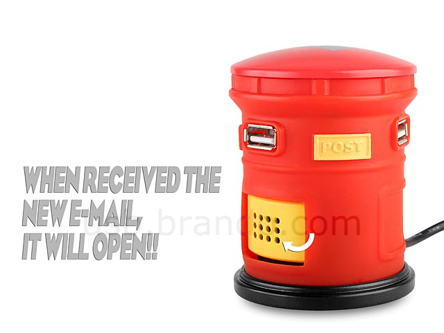 Post Box Shaped Email Notifier with USB Hub