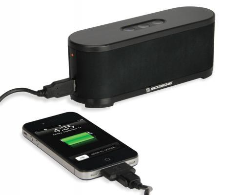 Scosche boomSTREAM Bluetooth Wireless Speaker with USB Charger