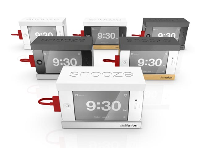 Snooze iPhone Dock with a Big Snooze Bar