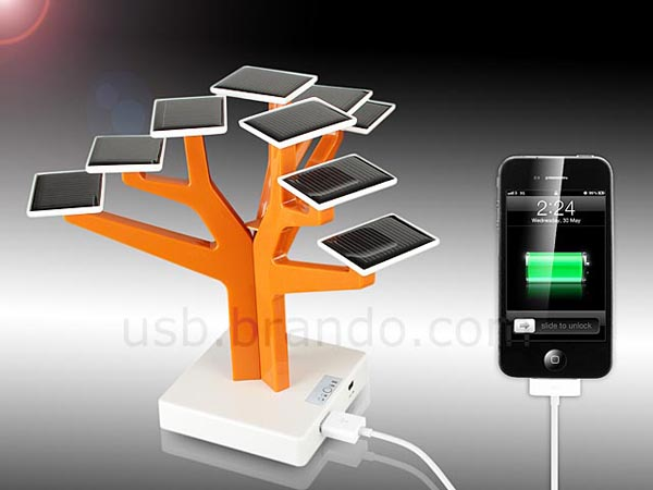 Solar Charger Tree for USB Gadgets