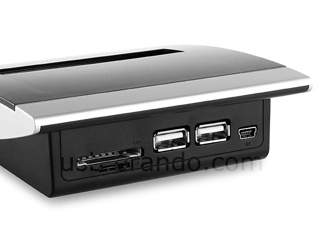 The USB Hub with Card Reader and Pop-up Note Dispenser