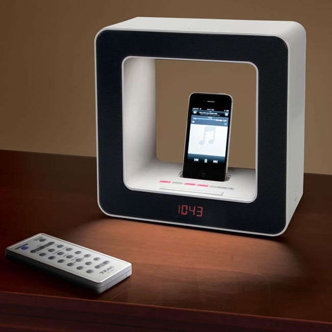 The Wake-To-Light Dock Speaker with Alarm Clock