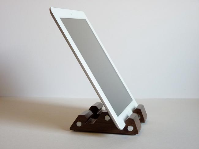 The Wood and Aluminum iPad Stand