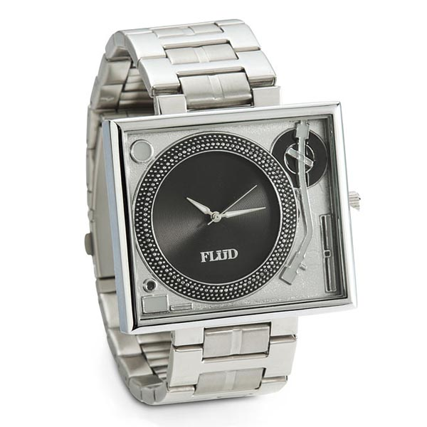 Turntable Metal Wrist Watch