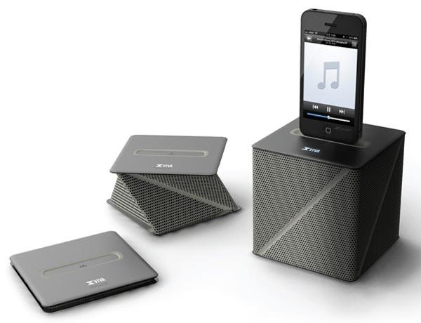 Viva Concept Dock Speaker Inspired by Origami