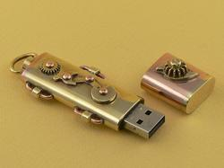 The Portable Steampunk USB Flash Drive