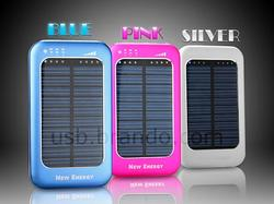 USB Solar Powered Backup Battery