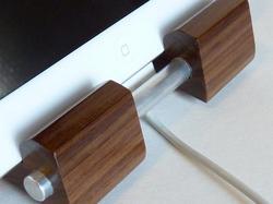 The Wood and Aluminum iPad Stand